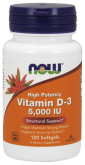 NOW Vit D3 5000 mg (120 капс.)