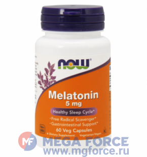 NOW Melatonin 5mg (60 капс.)